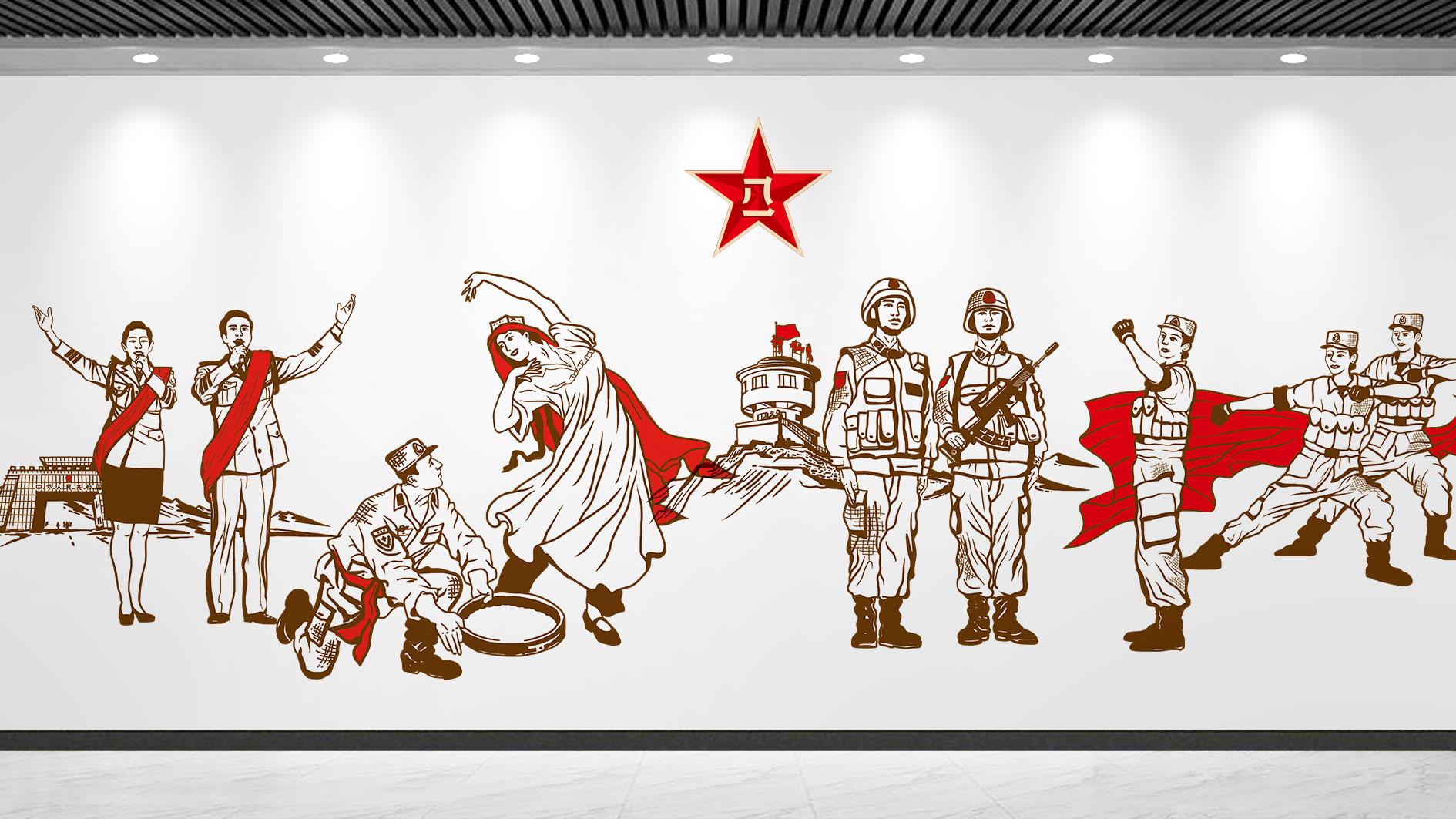 部队插画设计-兴动设计有限公司
